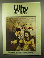 1968 Seagram's 100 Pipers Scotch Ad - Why Pipers?