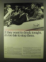 1968 Seagram's Distillers Ad - They Want Drink Tonight