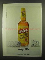 1968 Early Times Bourbon Ad - Swing a Little