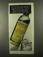 1968 Cutty Sark Scotch Ad - More Americans Enjoy