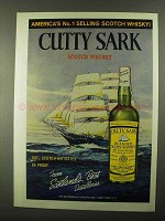 1968 Cutty Sark Scotch Ad - America's No. 1 Selling