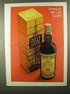 1968 Cutty Sark Scotch Ad - America's No 1 Gift Scotch