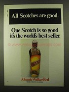 1968 Johnnie Walker Red Label Scotch Ad - All Are Good