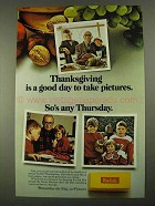 1968 Kodak Film Ad - Thanksgiving is a Good Day