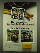 1968 Kodak Film Ad - The Fourth Of July is a Good Day