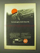 1968 AC Fire-Ring Spark Plugs Ad - Corvette Gets a Kick