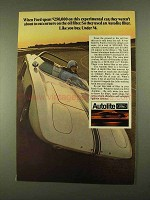 1968 Ford Autolite Oil Filter Ad - Experimental Car