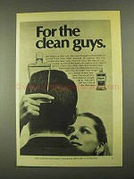 1968 Vaseline Hair Tonic Ad - For Clean Guys