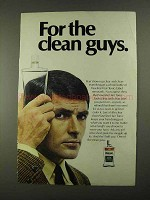1968 Vaseline Hair Tonic Ad - For The Clean Guys