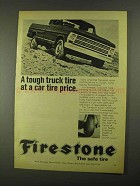 1968 Firestone Transport Truck Tire Ad - Tough