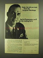 1968 U.S. Army Ad - Order Job You Want from Sergeant