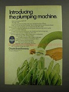 1968 Chiquita Bananas Ad - The Plumping Machine