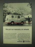 1968 General Electric Service Ad - Warranty on Wheels