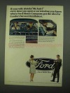 1968 Ford Motors Ad - If Your Wife Shrieks My Hair