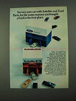 1968 Ford and Autolite Parts Ad - Service Your Car