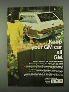 1968 General Motors Parts Ad - Keep Your GM Car All GM
