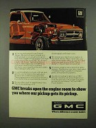 1968 GMC Pickup Truck Ad - Breaks Open Engine Room