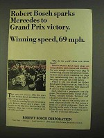 1968 Robert Bosch Spark Plugs Ad - Mercedes Grand Prix