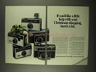 1968 Kodak Cameras Ad - 124, 134, 174, 314 and 414