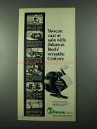 1975 Johnson Century Fishing Reel Ad - Can Cast or Spin