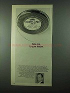 1975 Cortland 333 Fishing Line Ad - Take Me To Leader