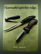1975 Normark Knife Ad - Swede 45, Presentation Hunting