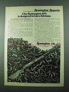 1975 Remington 870 Shotgun Ad - Last a Lifetime