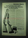 1975 Remington Model 1100 and 870 Wingmaster Shotgun Ad