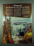 1975 Weatherby Vanguard Rifle Ad - Everyone Afford