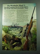 1975 Weatherby Mark V Rifle Advertisement - Shoots Farther