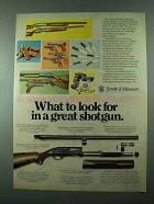 1975 Smith & Wesson Model 1000 Shotgun Advertisement - Look For