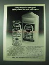 1975 Quaker State Duplex HD Oil Ad - Prevent Sickness