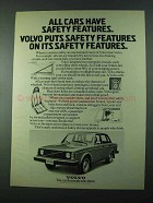 1975 Volvo Car Ad - All Cars Have Safety Features