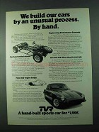 1975 TVR Car Ad - We Build Our Cars by Hand