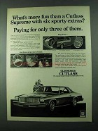1975 Oldsmobile Cutlass Supreme Coupe Ad - Sporty