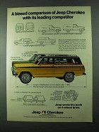 1975 Jeep Cherokee Ad - A Biased Comparison