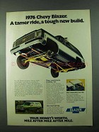 1976 Chevy Blazer Ad - A Tamer Ride, A Tough Build
