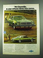1976 Chevy Chevelle Ad - A Size Whose Time Has Come