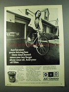 1975 AC-Delco Oil Filter Ad - Driving Less These Days