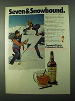 1975 Seagram's Seven Crown Whiskey Ad - Snowbound