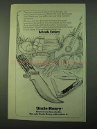 1975 Schrade Uncle Henry Knives Ad - Anyone Can Lose