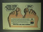1975 Mennen Quinsana Foot Powder Ad - Hiking!