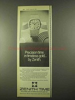 1974 Zenith Gold Collection Watches Ad - Precision Time