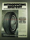 1974 Goodyear Bigfoot Tire Ad - The Polysteel Radial