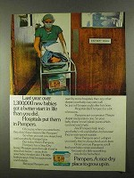 1974 Pampers Diapers Ad - New Babies Got Better Start