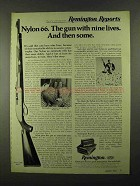 1974 Remington Nylon 66 MB Rifle Advertisement - Nine Lives