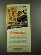 1974 Redfield JR/SR Mounting System Ad - Perfect Circle