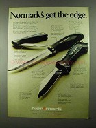 1974 Normark Knife Ad - Swede 45 and Big Swede