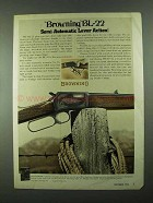 1974 Browning BL-22 Rifle Ad - Semi-Automatic Lever
