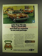 1974 Chevy Vega Woody and Vega Wagon Ad - Practicality
